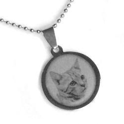Přívěsek z chirurgické oceli kočka + řetízek zdarma