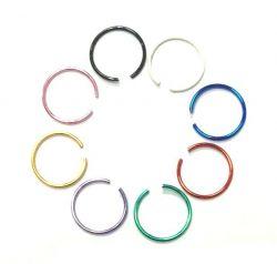 Zobrazit detail - Falešný piercing kroužek černý