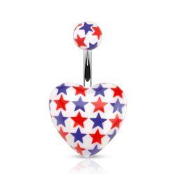 Zobrazit detail - Piercing do pupíku srdce
