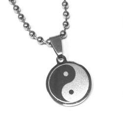 Přívěsek z chirurgické oceli Jing jang + řetízek zdarma