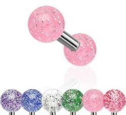 Piercing mini činka fialová