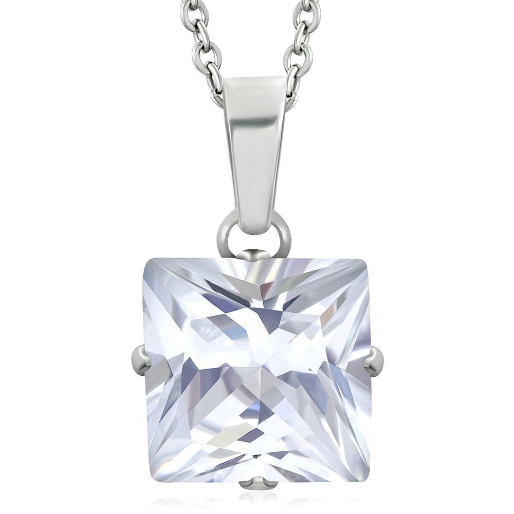 Přívěsek se zirkonem+ocelový řetízek Starsteel.cz - šperky z oceli dbf93f2d54d