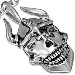 Přívěsek z chirurgické oceli lebka
