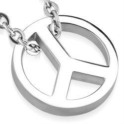 Přívěsek z chirurgické oceli Peace