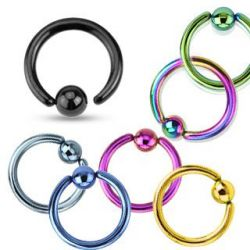 Piercing kroužek černý