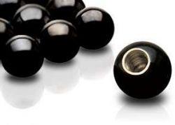 Piercing-náhradní kulička černá 5mm, závit 1,6mm