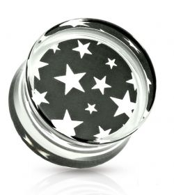 Piercing plug hvězdy 8mm