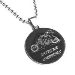 Přívěsek z chirurgické oceli Extreme choppers + řetízek zdarma