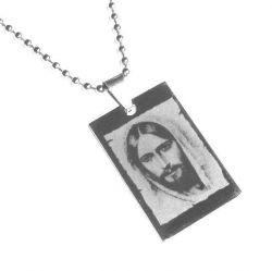 Přívěsek z chirurgické oceli Ježíš Kristus + řetízek zdarma