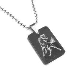 Přívěsek z chirurgické oceli Kůň + řetízek zdarma