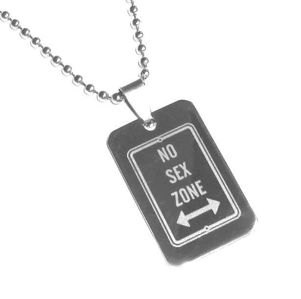 Přívěsek no sex zone