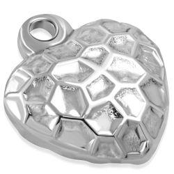 Přívěsek z chirurgické oceli srdce