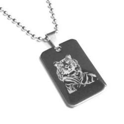 Přívěsek z chirurgické oceli Tygr + řetízek zdarma