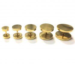 Fake plug zlatý 12mm