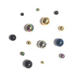 Piercing-náhradní kulička černá 8mm, závit 1,6mm