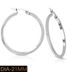 Náušnice z chirurgické oceli kruhy