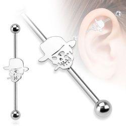 Piercing do ucha industrial lebka