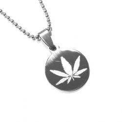 Přívěsek z chirurgické oceli Marihuana + řetízek zdarma