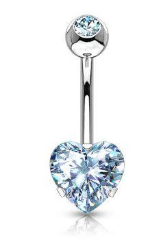 Piercing do pupíku srdce