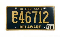 Americká SPZ - Delaware