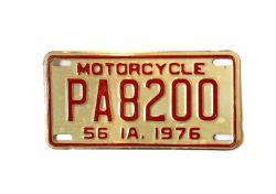 Americká SPZ - Iowa motorcycle