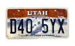 Americká SPZ - Utah