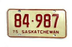 Kanadská SPZ - Saskatchewan