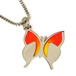 Přívěsek z chirurgické oceli motýl