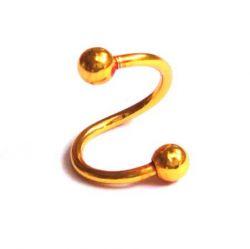 Piercing spirála zlatá